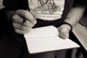 Preventivi di funerali scritti a mano
