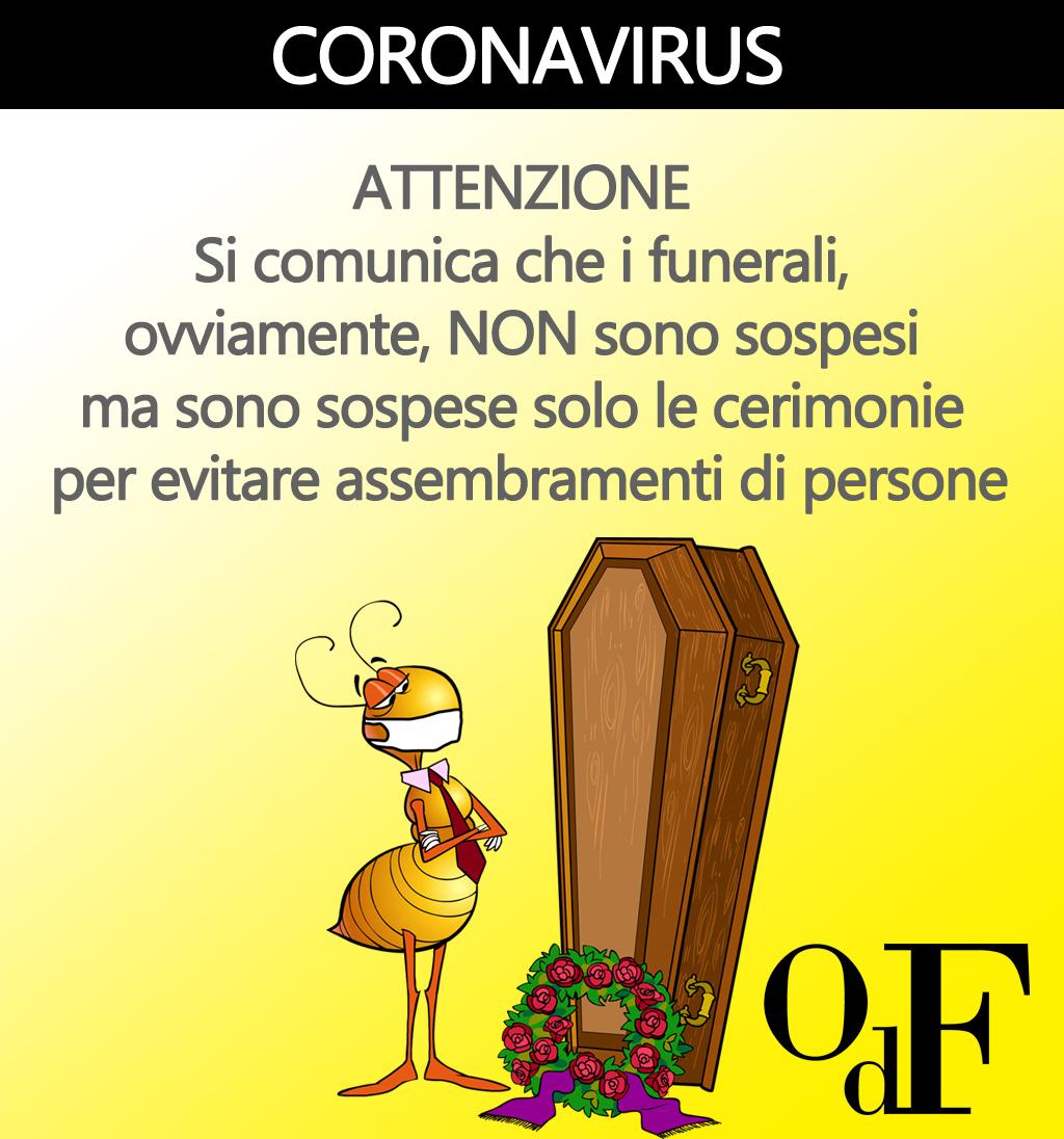 Il funerale con il coronavirus
