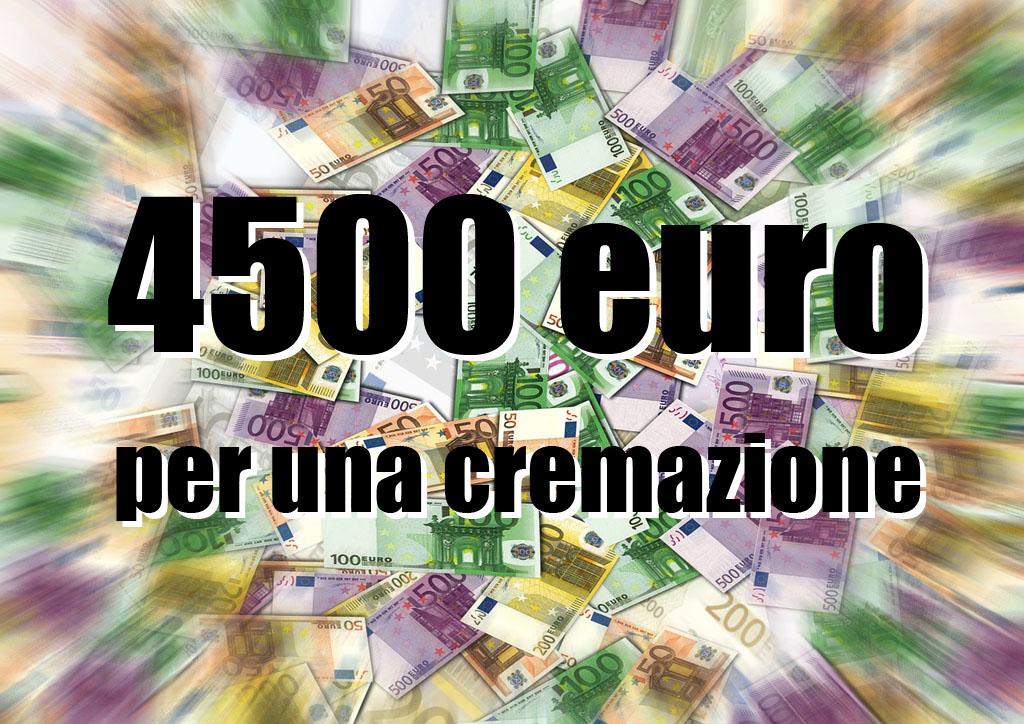 4500 euro per una cremazione