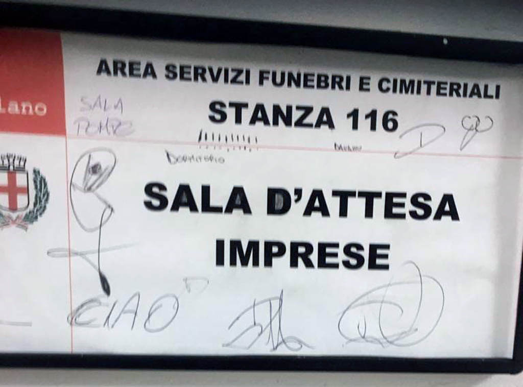 Scarabocchi nel Comune di Milano - Settore funebre e cimiteriale